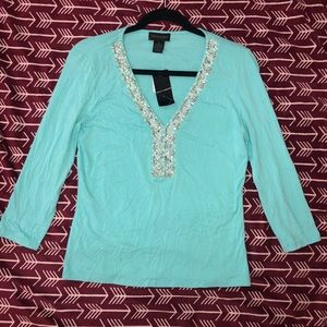 Tops - Prominence long sleeve beaded top